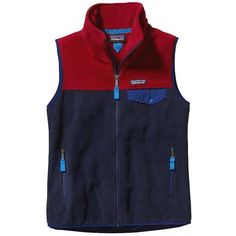 Patagonia Women's Snap-T Vest ($99) ❤ liked on Polyvore featuring outerwear, vests, navy blue and patagonia