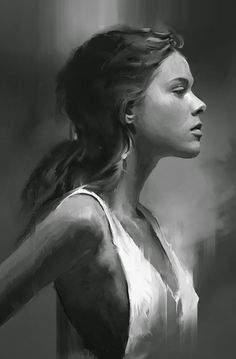 For some of the best prices see Hains Clearance dot com Artist: David Seguin {figurative realism art beautiful female head profile monochrome woman face portrait digital painting #loveart} http://behance.net/DavidSeguin