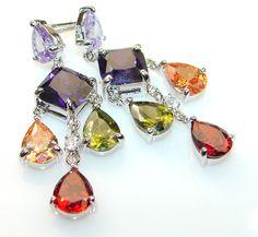 $68.73 Royal Alexandrite Quartz Sterling Silver Earrings at www.SilverRushStyle.com #earrings #handmade #jewelry #silver #alexandrite