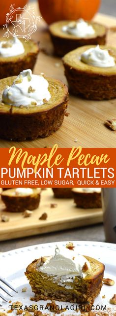 Maple Pecan Pumpkin Tartlets are the answer to your holiday pumpkin dessert dilemma! Full of spice with rich pecan flavor and a hint of maple, these creamy pumpkin tartlets can't be beat. Your guests will never know they are gluten and sugar free!