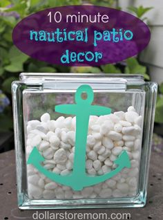 Make a Nautical Patio Vase - Dollar Store Crafts