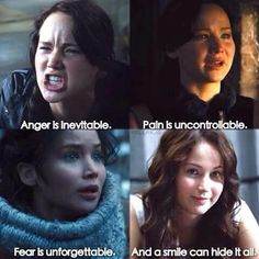 Anger is inevitable. Pain is uncontrollable. Fear us unforgettable. And a smile can hide it all