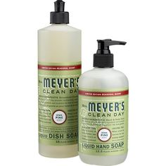 Mrs. Meyer's Clean Day Pine Dish Soap and Hand Soap in Christmas Entertaining | Crate and Barrel