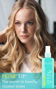 Lauren Conrad's favorite sea salt spray (JOHN FRIEDA® Beach Blonde™ Sea Waves™ Sea Salt Spray $8.99) #spon