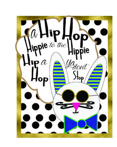 Hipster Easter Bunny Printables Round 2   Mandy's Party Printables