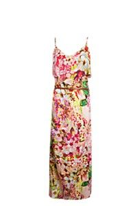 Floral front frill maxi dress at from Mr Price. Floral Maxi Dress, No Frills, Pretty Dresses, Summer Dresses, Chic, Wedding Dresses, My Style, Layering, Blazers