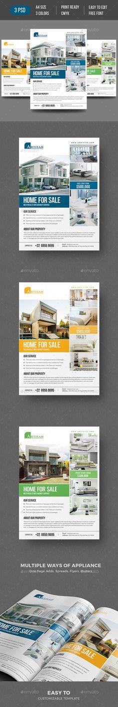 PSD Real Estate Flyer Design Download https://graphicriver.net/item/real-estate-flyer/19316963?ref=themedevisers