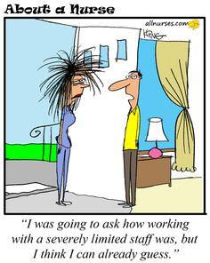 Cartoon: Short Staffing - About A Nurse - Nursing Cartoon Series