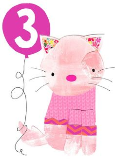 Greeting Cards » Age 3 Girl » Age 3 Girl - Paper Salad
