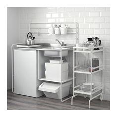 IKEA Deutschland | Die Miniküche SUNNERSTA besteht aus einer Spüle aus Edelstahl, einem hygienischen, robusten und pflegeleichten Material.