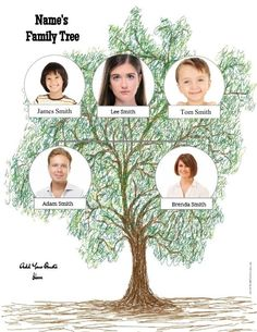 25 best Family Tree Templates images on Pinterest   Family tree     Family tree template