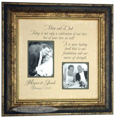 Parents Wedding Gift, Father of The Bride Gift, Mother of The Bride ...