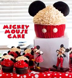 Mickey mouse giant cupcake