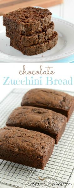 Moist and delicious Chocolate Zucchini Bread- a decadent way to eat your veggies!