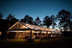 30' Wide Clear Top tent at Sandy Creek Barn | Lake Oconee Georgia