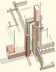 Visionary architect and artist Iakov Chernikhov (1889 – 1951) produced gorgeous conceptual architectural renderings that were years ahead of their time; his designs bore remarkable resemblance to the modernist architecture of the late 20th century. These images are from his seminal 101 Architectural Fantasies, published in 1933.