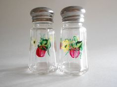 Strawberries Salt and Pepper Shakers Hand Painted.