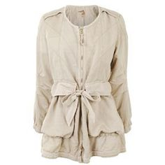 MARITHE+FRANCOIS GIRBAUD Cotton Canvas Gather Detail Jacket at Flannels Fashion