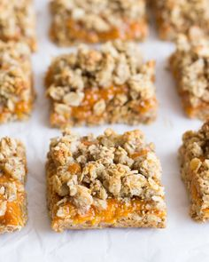 Apricot Oatmeal Crumble Bars- naturally sweetened, gluten-free, and unbelievably delicious! #dairyfree