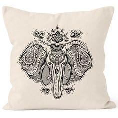Kissenbezug Kissen-Hülle Mandala Elefant Elephant Boho Ethno 40x40 Autiga®