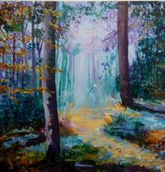 woodland fantasy 056 Online Gallery, Tree Art, Home Accessories, Woodland, Fantasy, Creative, Prints, Painting, Inspiration
