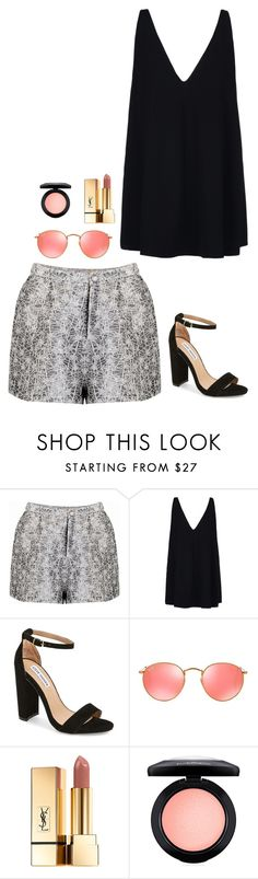 """""""Untitled #740"""" by h1234l on Polyvore featuring STELLA McCARTNEY, Steve Madden, Ray-Ban, Yves Saint Laurent and MAC Cosmetics"""