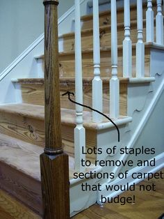 Took stairs just like mine and redid them without stapling carpet all over them -- it can be done! ksharron