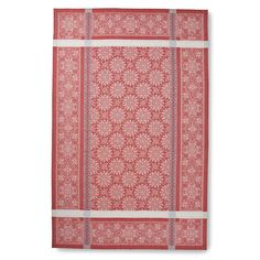 Snowflake Jacquard Tablecloth, Red