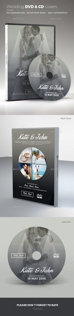 #Wedding DVD Cover - CD & DVD Artwork Print Templates Download here: https://graphicriver.net/item/wedding-dvd-cover/14279035?ref=classicdesignp