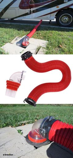 The mess-free, smell-free way to know if the water's running clean after emptying the tanks is to have a clear spout on the end of your sewer hose. This kit has one, plus it fits 4 different types of inlets. Scamp Camper, Popup Camper, Diy Camper, Rv Campers, Camper Ideas, Rv Homes, Motor Homes, Tiny Homes, Beach Camper