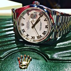 Rolex Oyster Perpetual Datejust 36 MM Stainless Steel Watch ‼️ Contact Loucri Jewelers for this and other Luxury Time Pieces. Email sales@loucri.com or call ☎️☎️☎️ 516 960 7757 ‼️