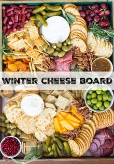 The perfect addition to any winter holiday party is a cheese board! Full of fruits, meats, cheeses, nuts, and olives, it is perfect for satisfying all your guests at the same time! Winter Holiday Party Cheese Board Appetizer Recipe   Take Two Tapas