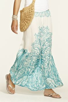 Elvera Silk Maxi Skirt