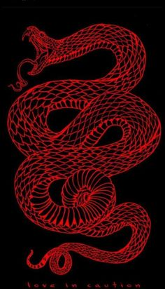 This small snake tattoo is edgy and cool, and we like that it looks as if it's a. - picture for you Aesthetic Backgrounds, Aesthetic Iphone Wallpaper, Aesthetic Wallpapers, Red Wallpaper, Wallpaper Backgrounds, Snake Wallpaper, Full Black Wallpaper, Pretty Backgrounds, Summer Backgrounds