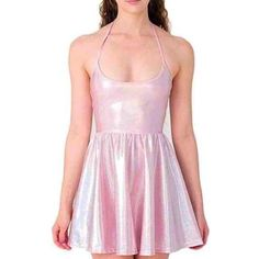 ISO AMERICAN APPAREL HOLOGRAPHIC DRESS I've been looking for this since it sold out!!! Will buy in either pink or blue. I'll only buy if the size is XS or S!! American Apparel Dresses