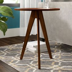 Langley Street Aniya End Table Color: Antique Cherry Tall End Tables, End Table Sets, Wood End Tables, End Tables With Storage, Wood Table, Contemporary End Tables, Round Accent Table, Diy Furniture Plans, Nesting Tables