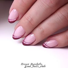FoxyNails: Maniküre, Nageldesign – Nagellack-Kunst, You can collect images you discovered organize them, add your own ideas to your collections and share with other people. Frensh Nails, Gold Nails, Pink Nails, Cute Nails, Pretty Nails, Hair And Nails, Jamberry Nails, Manicure Nail Designs, Nail Manicure