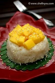 Thailand sticky rice and mango