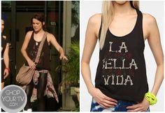 Shop Your Tv: 90210: Season 5 Episode 3 Silver's Brown La Bella Vida Tank Top