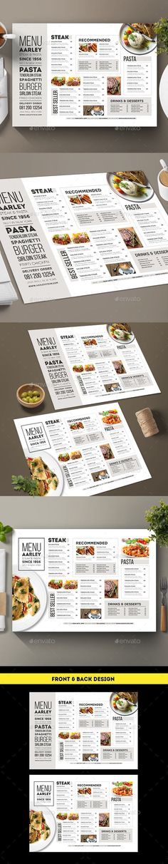 Typography Menu - Food Menus Print Templates