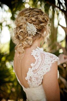 Brides woven half up chignon curls bridal hair ideas Toni Kami Wedding Hairstyles Swarovski pin Pretty Hairstyles, Wedding Hairstyles, Hairstyle Ideas, 80s Hairstyles, Perfect Hairstyle, Updos Hairstyle, Curly Haircuts, Elegant Hairstyles, Short Hairstyle