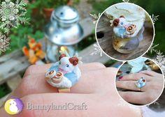 'Poro on the ice' Ring by BunnyLandCraft  ★ Follow me on FB: https://www.facebook.com/BunnylandCraft ★