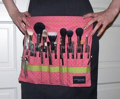 DIY Makeup Artist Brush Belt by asoftblackstar, via Flickr