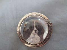 Antique Sterling Essex Crystal Dog Brooch Pin