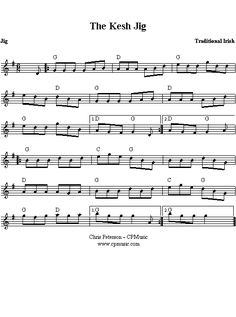 ... on the Mountain [ sheet music ] -- Irish five-part slip jig, E minor