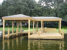boat docks with partial roof - Google Search