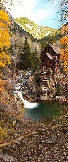 ASPEN COLORADO USA mill creek autumn waterfall #Marble Crystal Mills Crystal Fall Foliage Outdoor #by ferpectshotz on flickr.com
