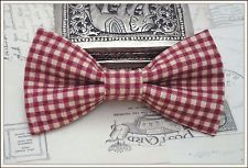 Boy Baby Infant Toddler Boys Red Plaid Clip On Bow Tie 2T 3T 4T
