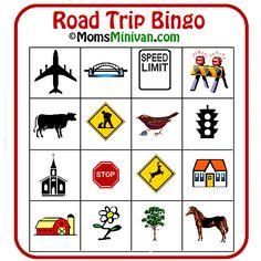Roadside Bingo card 1 - Free Printable Car Bingo Games | Momsminivan.com