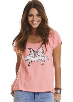 T-shirt lys coral 317M-414 Holiday Mood T-shirt - light coral
